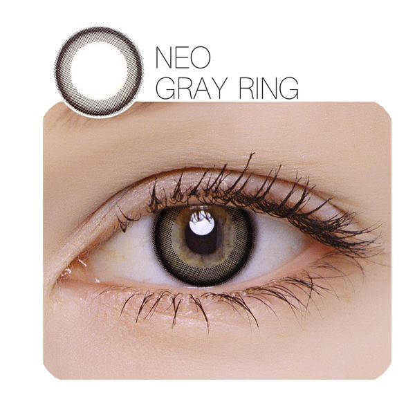 NEO Gray Ring Prescription (12 Month) Contact Lenses - StunningLens
