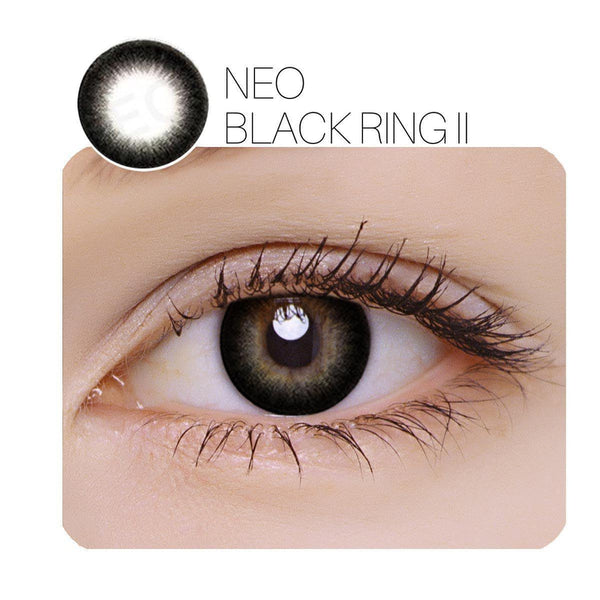 NEO Black Ring Ⅱ Prescription (6 / 12 Month) Contact Lenses - StunningLens