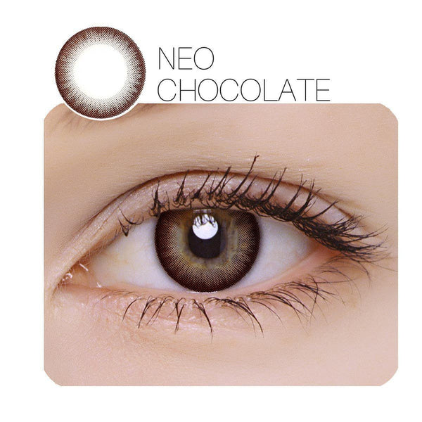 NEO Chocolate Prescription 14.0mm 1 Pair (12 Month) Contact Lenses