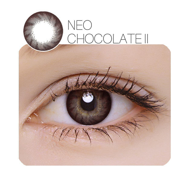 NEO Chocolate Ⅱ Prescription 14.0mm 1 Pair (6 / 12 Month) Contact Lenses
