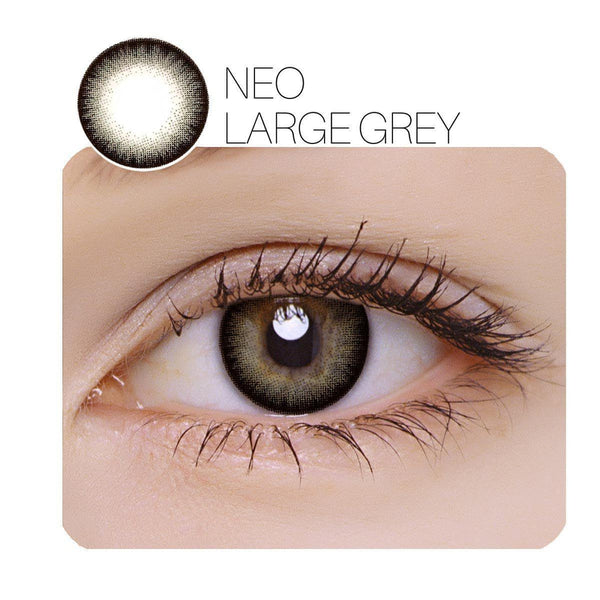 NEO Large Grey Prescription 14.0mm 1 Pair (6 / 12 Month) Contact Lenses