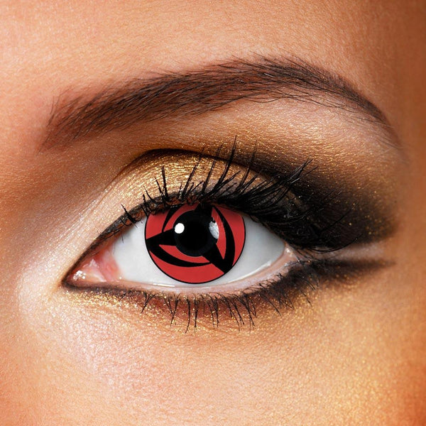 Vortex Cosplay Red (12 Month) Contact Lenses - StunningLens