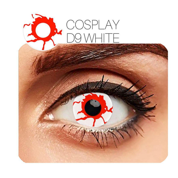 Bleeding Cosplay Red (12 Month) Contact Lenses - StunningLens