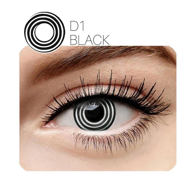 Eddy Cosplay Black (12 Month) Contact Lenses - StunningLens