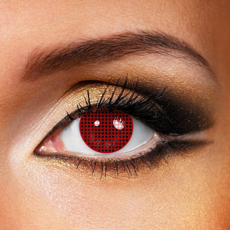 Mesh Cosplay Red (12 Month) Contact Lenses - StunningLens