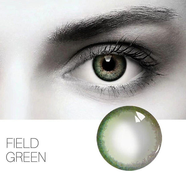 Field Green 14.5mm 1 Pair (12 Month) Contact Lenses