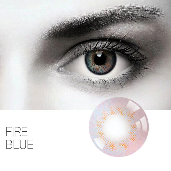 Fire 4 Colors 14.0mm 1 Pair (12 Month) Contact Lenses