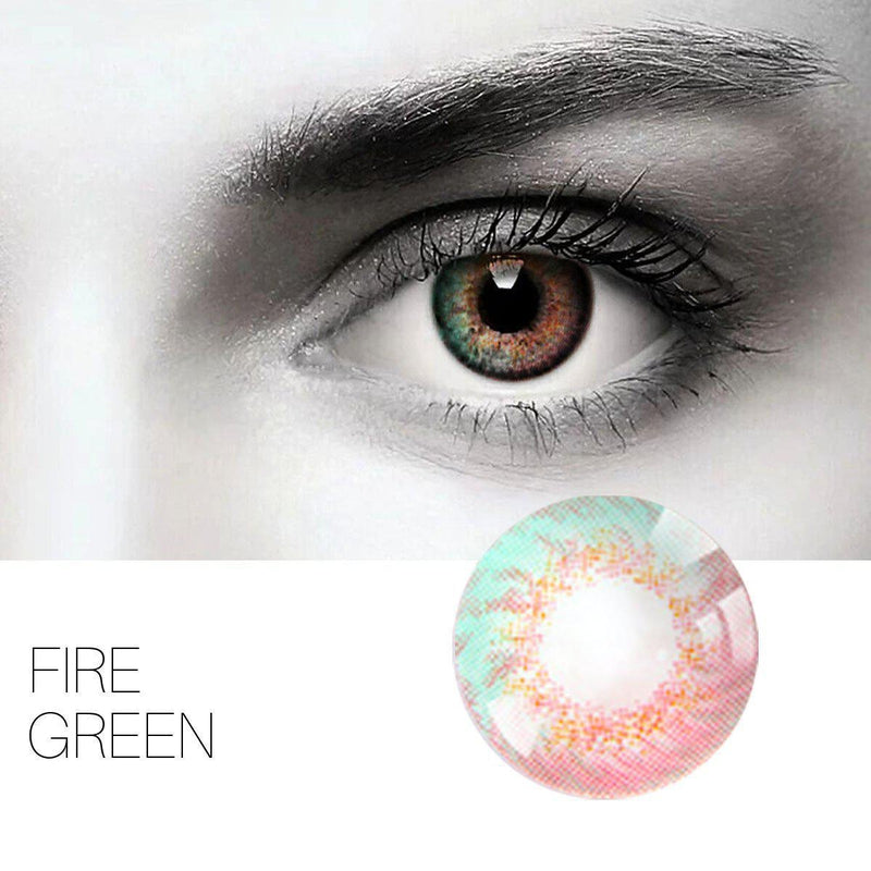 Fire 4 Colors (12 Month) Contact Lenses - StunningLens