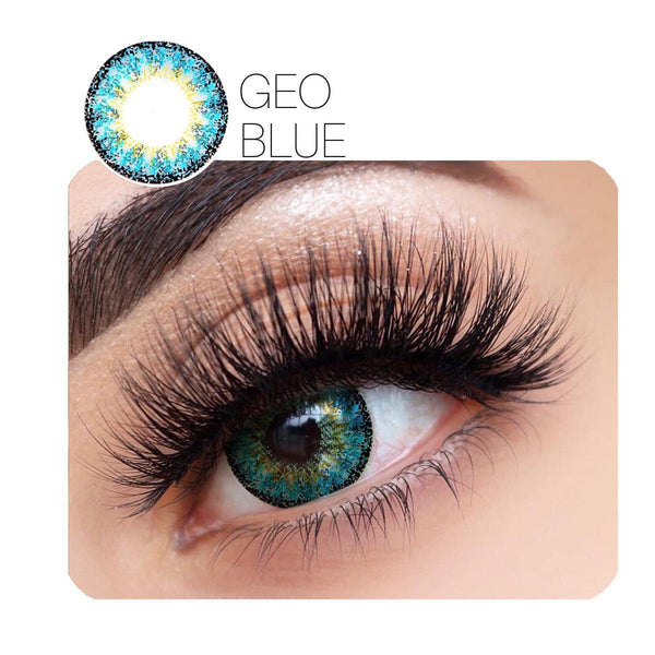 GEO Charm Prescription Blue (12 Month) Contact Lenses - StunningLens