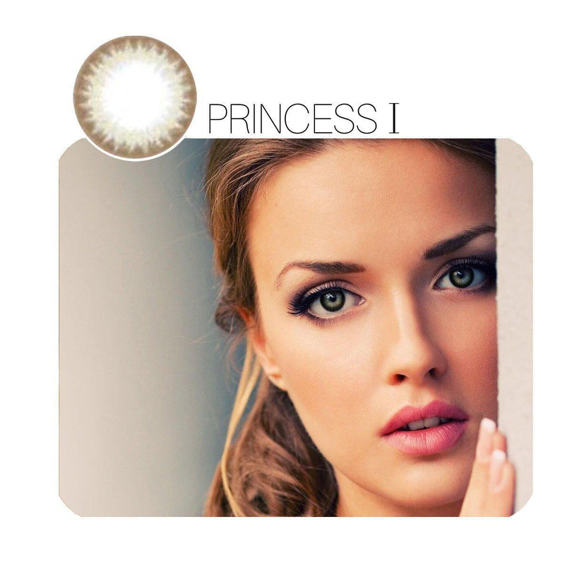 PrincessⅠ Grey Prescription (12 Month) Contact Lenses - StunningLens
