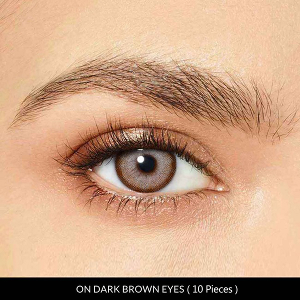 Diri Brown Prescription 10 Pieces (Daily) Contact Lenses - StunningLens