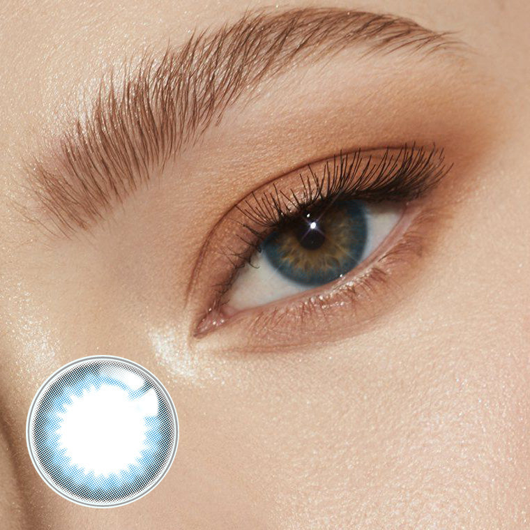 Ice Cream Prescription Blue (12 Month) Contact Lenses - StunningLens