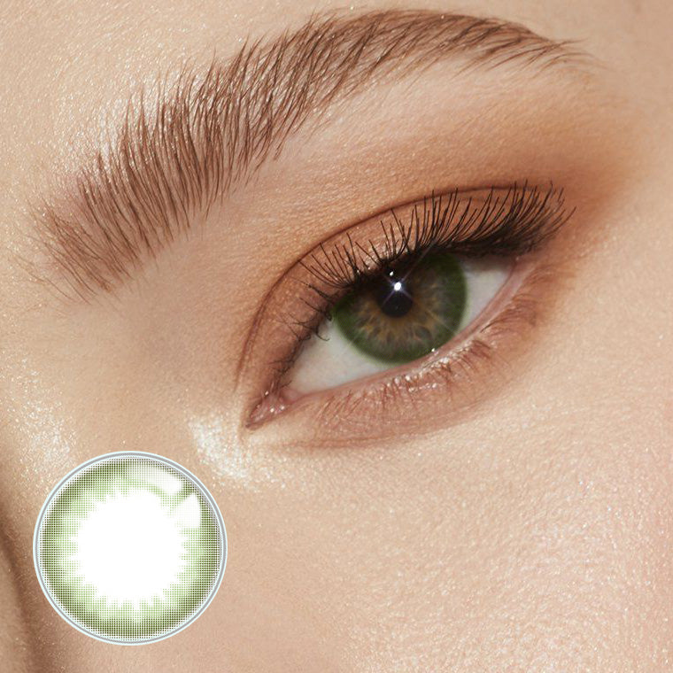Ice Cream Prescription Green (12 Month) Contact Lenses - StunningLens