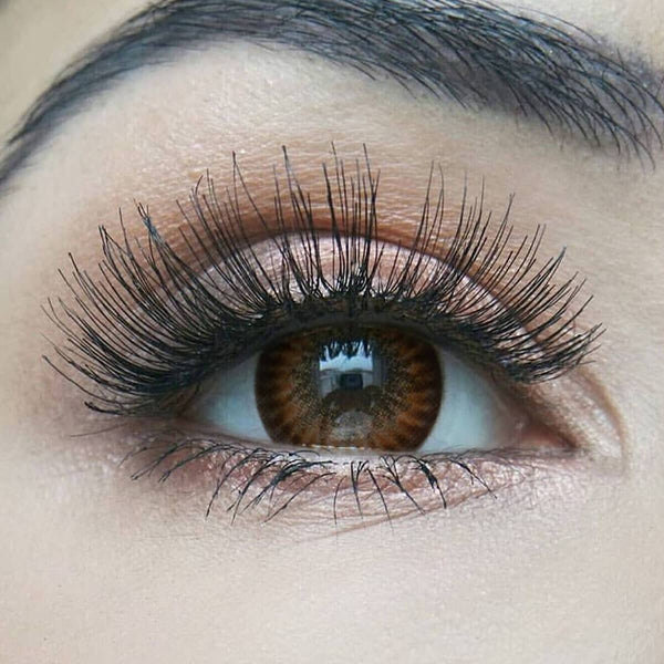 Firework Brown Prescription (12 Month) Contact Lenses - StunningLens