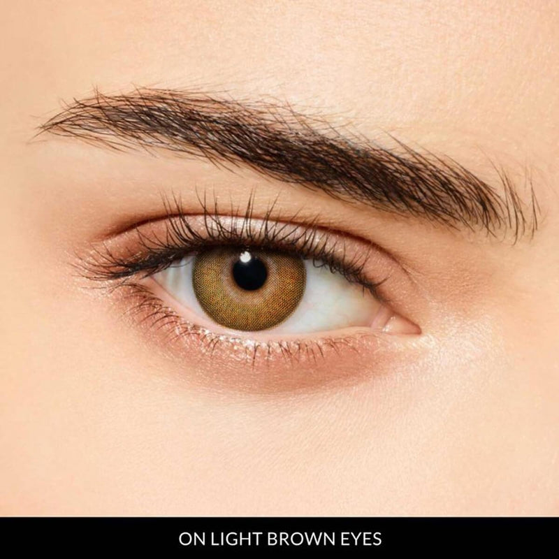 Hydrangea Brown Prescription (1 Month) Contact Lenses - StunningLens