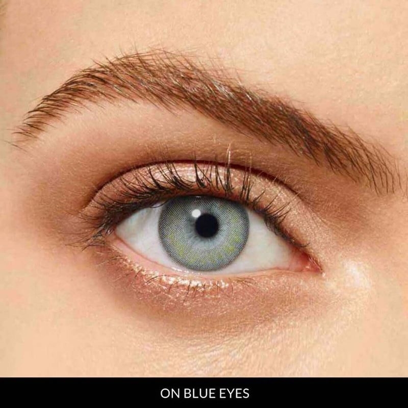 Hydrangea Grey Prescription (1 Month) Contact Lenses - StunningLens