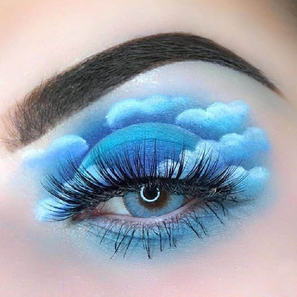 Ocean Sky Blue (12 Month) Contact Lenses - StunningLens