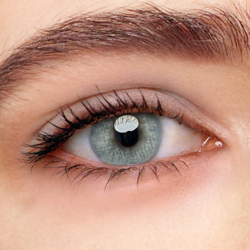 Polar Lights Blue Grey Prescription (12 Month) Contact Lenses - StunningLens