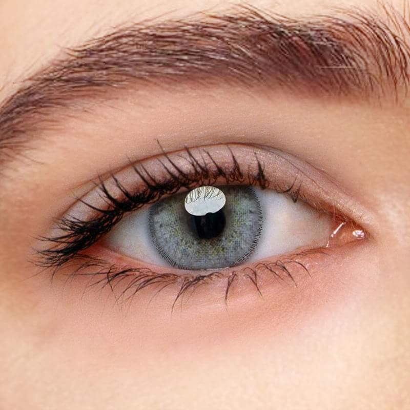 Euramerican Green-Grey Prescription (12 Month) Contact Lenses - StunningLens