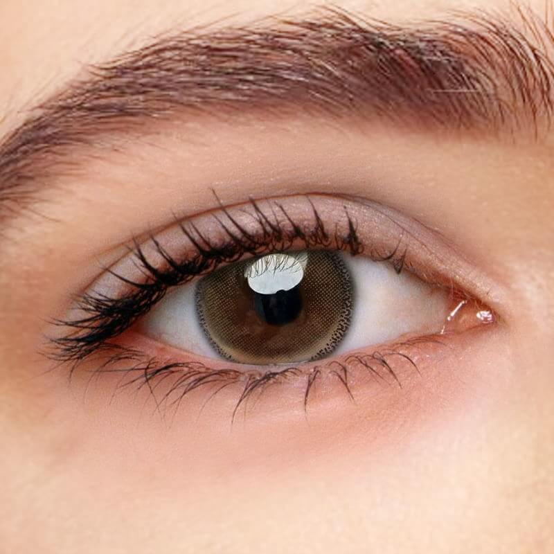 Edge Brown Prescription (12 Month) Contact Lenses - StunningLens