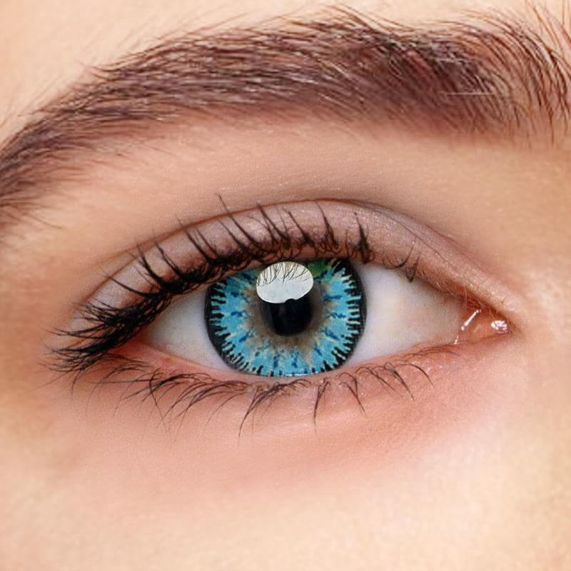 Mystery Blue  Prescription(12 Month) Contact Lenses - StunningLens