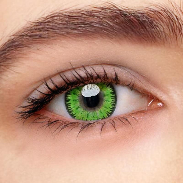Mystery Green Prescription (12 Month) Contact Lenses - StunningLens