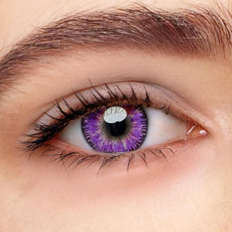 Mystery Purple Prescription (12 Month) Contact Lenses - StunningLens