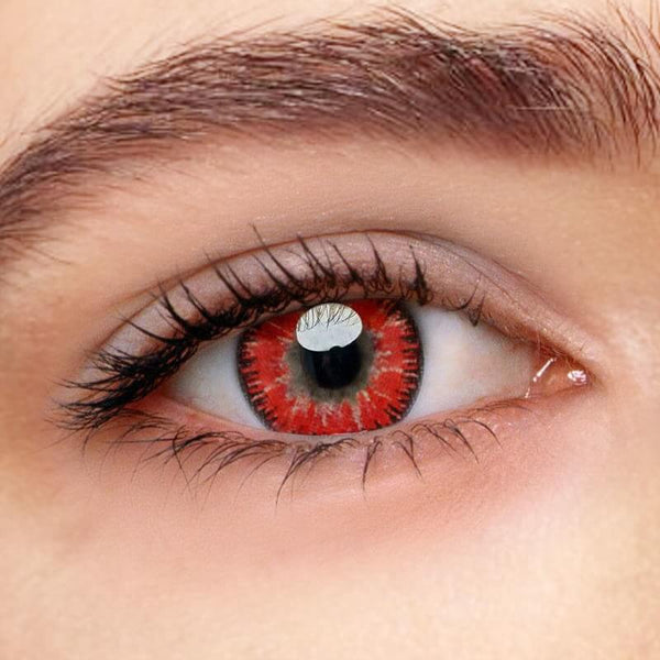 Mystery Red Prescription (12 Month) Contact Lenses - StunningLens