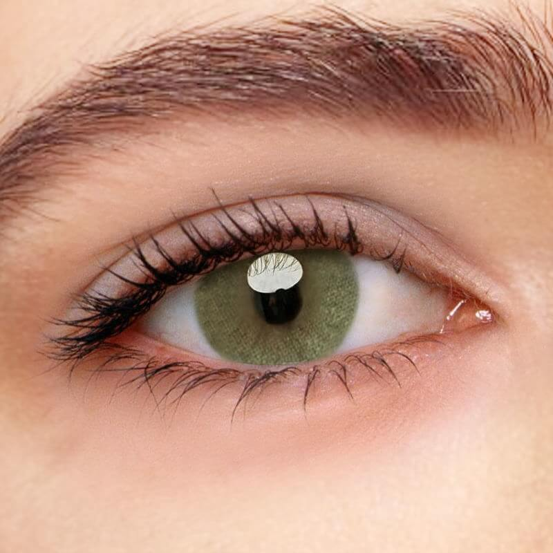 HD Green Prescription (12 Month) Contact Lenses - StunningLens