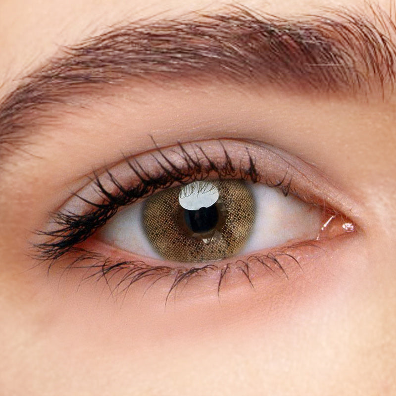 Ocean Brown Prescription (12 Month) Contact Lenses - StunningLens