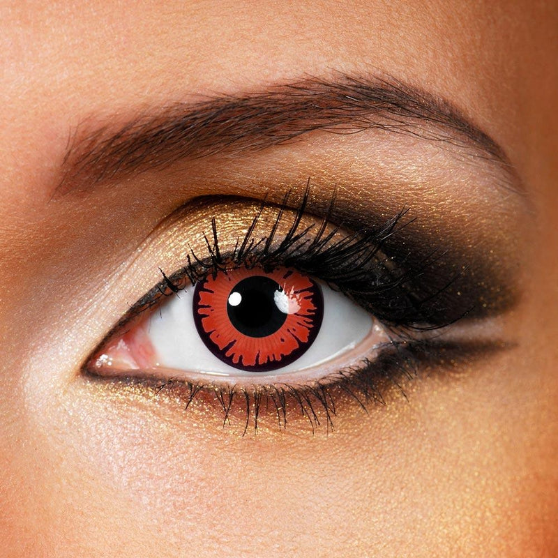 Red Wizards (12 Month) Contact Lenses - StunningLens