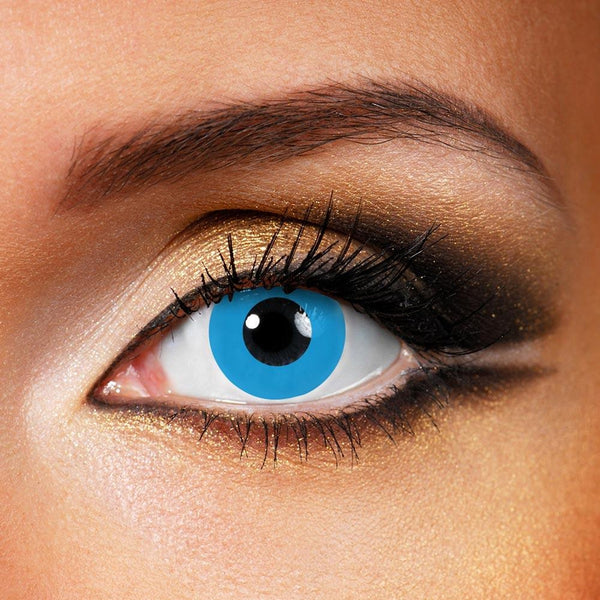 Pure Blue (12 Month) Contact Lenses - StunningLens