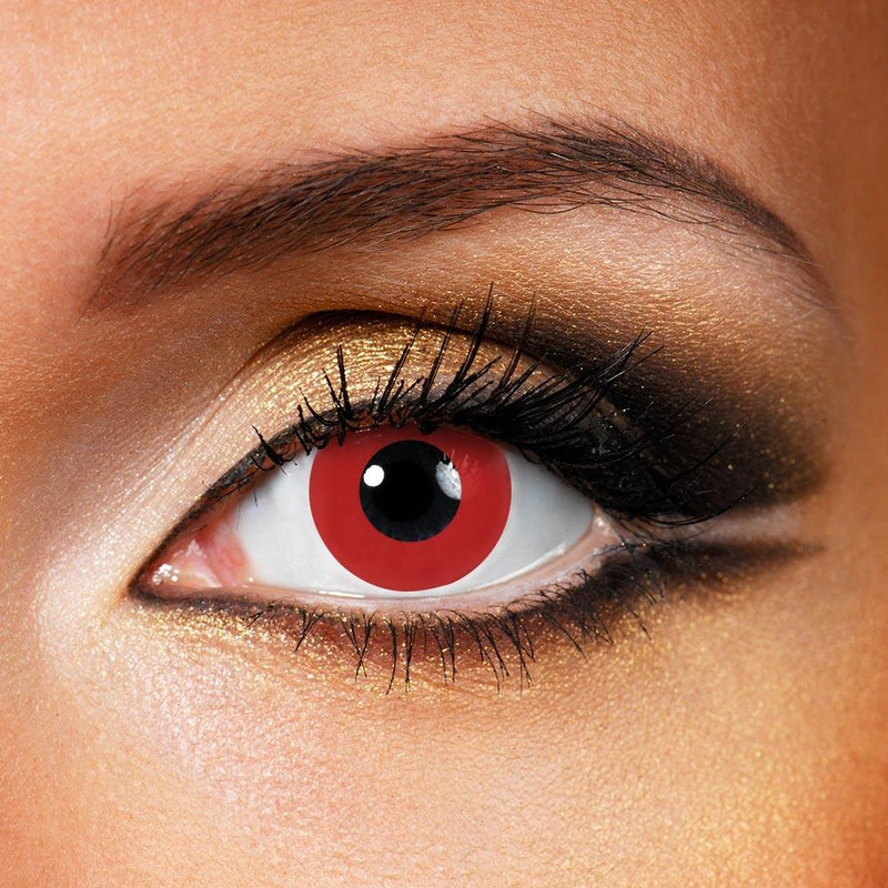 Pure Red (12 Month) Contact Lenses - StunningLens