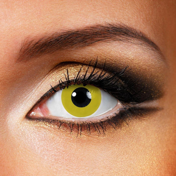Pure Yellow (12 Month) Contact Lenses - StunningLens