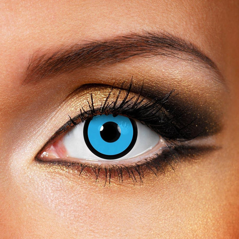 Circle Blue (12 Month) Contact Lenses - StunningLens