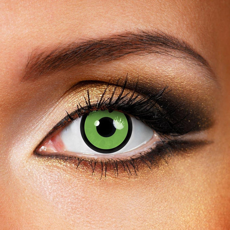 Green Manson (12 Month) Contact Lenses - StunningLens