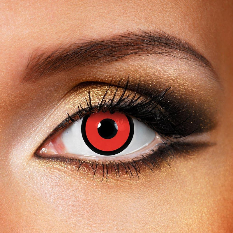 Circle Red (12 Month) Contact Lenses - StunningLens