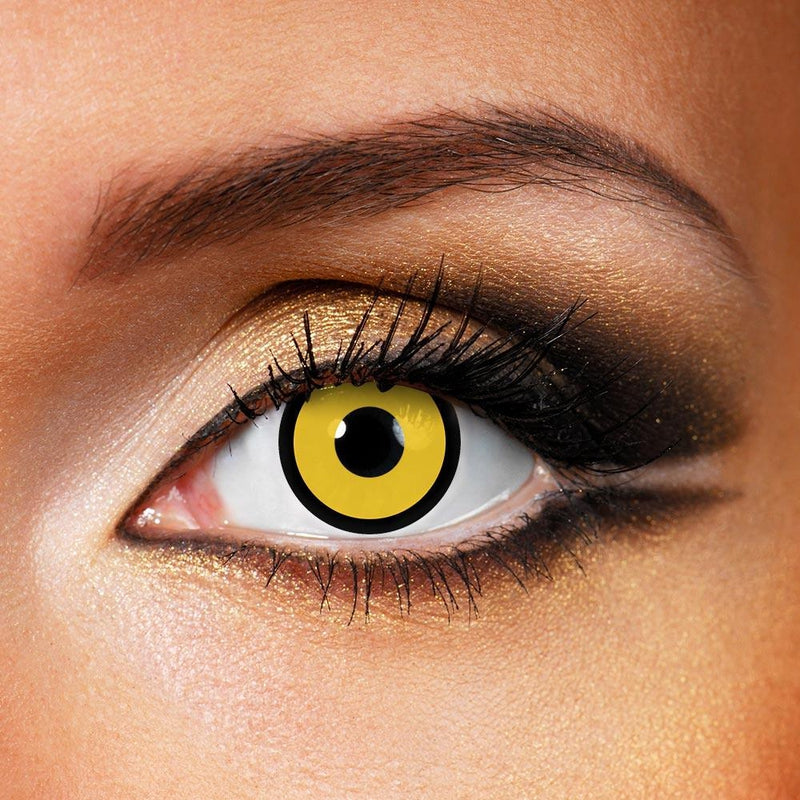 Circle Yellow (12 Month) Contact Lenses - StunningLens