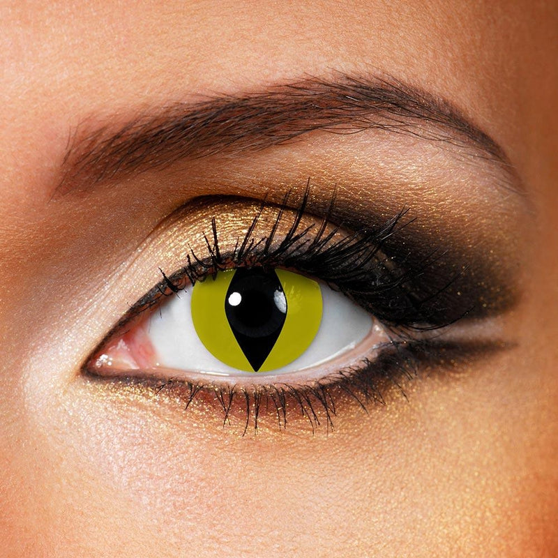 Reptile Yellow (12 Month) Contact Lenses - StunningLens