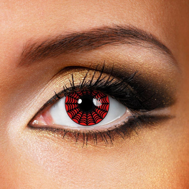 Red Web (12 Month) Contact Lenses - StunningLens
