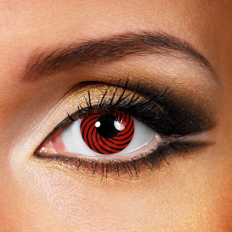 Reddish Black Spiral (12 Month) Contact Lenses - StunningLens
