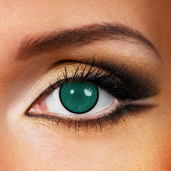 Green Mesh (12 Month) Contact Lenses - StunningLens