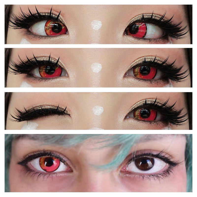 Coscon Sky Red (12 Month) Contact Lenses - StunningLens