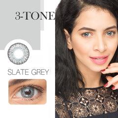 3-Tone 12 Colors 14.5mm 1 Pair (12 Month) Contact Lenses