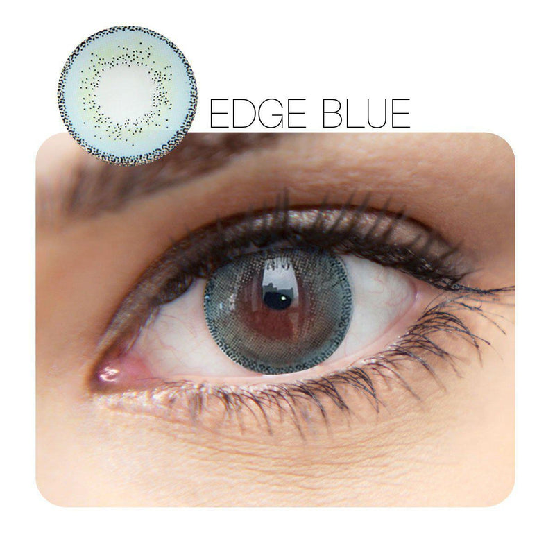 Edge Blue (12 Month) Contact Lenses - StunningLens