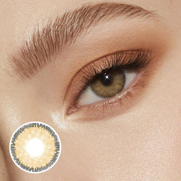Premium Brown Prescription (12 Month) Contact Lenses - StunningLens