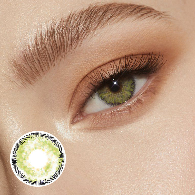 Premium Green Prescription (12 Month) Contact Lenses - StunningLens