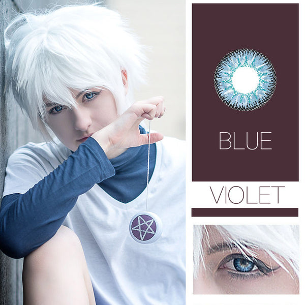 Violet Cosplay 7 Colors 14.5mm 1 Pair (12 Month) Contact Lenses