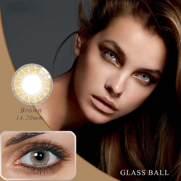 Glassball Brown Prescription (12 Month) Contact Lenses - StunningLens