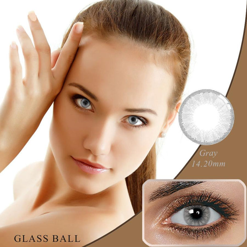 Glassball Grey Prescription (12 Month) Contact Lenses - StunningLens